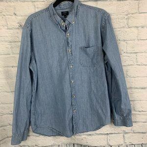 J.Crew Chambray Long sleeve denim shirt